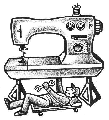 Sewing Machine Maintenance Tutorial - Man Sewing